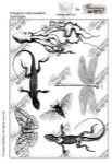 Chocolate Baroque France Papillon Creepers and Crawlers Rubber Stamp